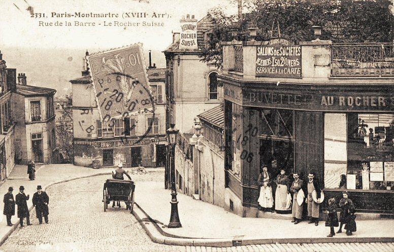 Autrefois, le 16 rue Lamarck était un restaurant : « Le Rocher Suisse ».